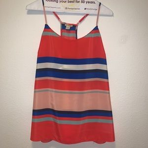 Multi-Color Striped Racerback Tank Top